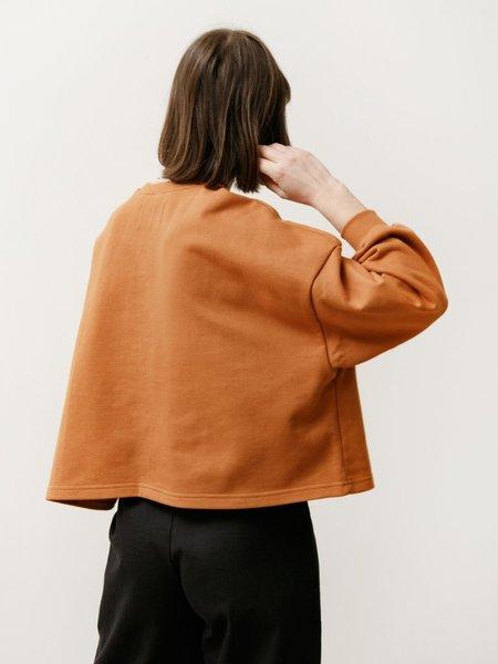 Priory Classic Lightweight Terry Crew sweater - Burnt Orange