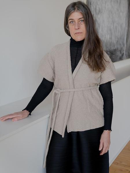 Lauren Manoogian Curve Vest - Greige