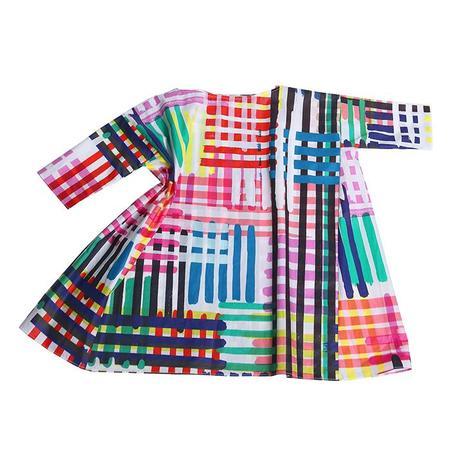 Kids Tia Cibani Kids Box Fit Dress - Maasai Madras Print