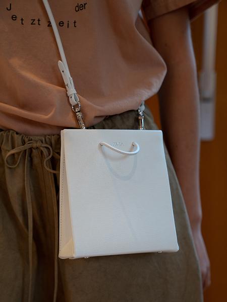 Medea Short Prima Bag - White Saffiano