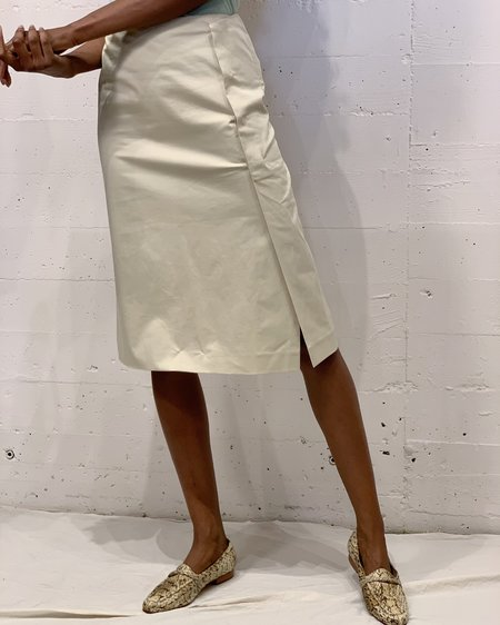 Vintage Jil Sander Faux Wrap Skirt - yellow