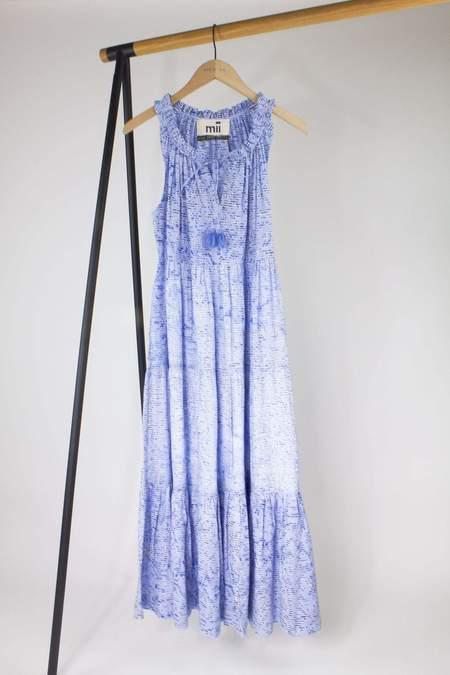 Mii Collection Gabrielle Dress - Sky Blue print