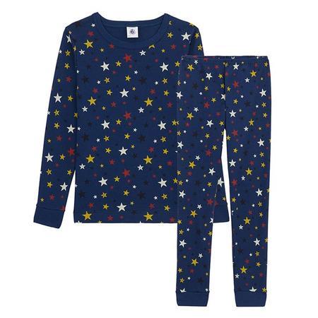 Kids Petit Bateau Child Laureat Pyjamas - Blue Star Print