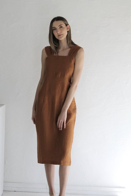 Rita Row Otavia Linen Dress - Camel