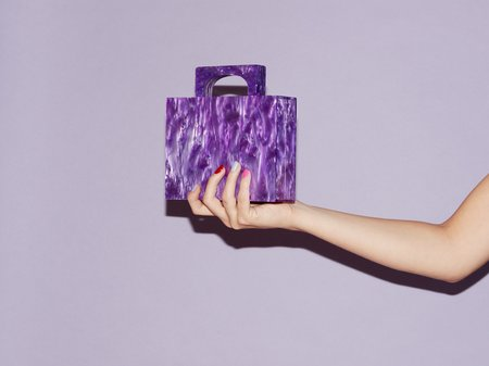 Valet Studio Alexa Bag - Purple
