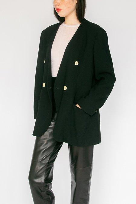 Vintage Double Breasted Blazer - black