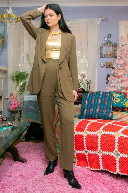 Vintage Donna Karan Pant Suit - Toffee