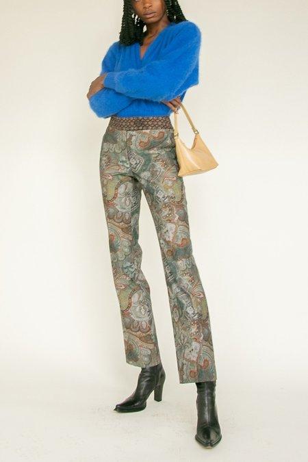 Vintage Mid Rise Trousers - Paisley