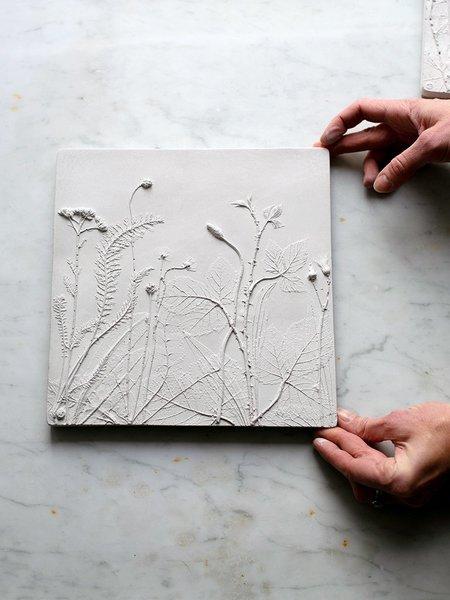 Rachel Dein Yarrow Concrete Tile - white