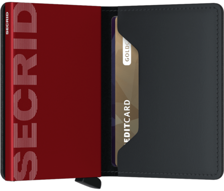 Secrid Slim wallet - MATTE BLACK/RED