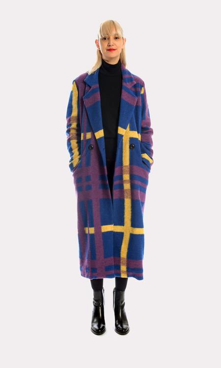 Kurt Lyle Veronique Coat in Oslo Plaid