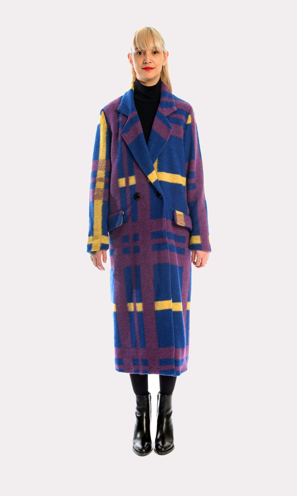 Kurt Lyle Veronique Coat in Oslo Plaid