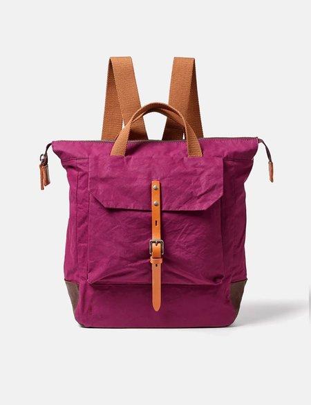 Ally Capellino Frances Hybrid Waxy Rucksack BAG - PURPLE