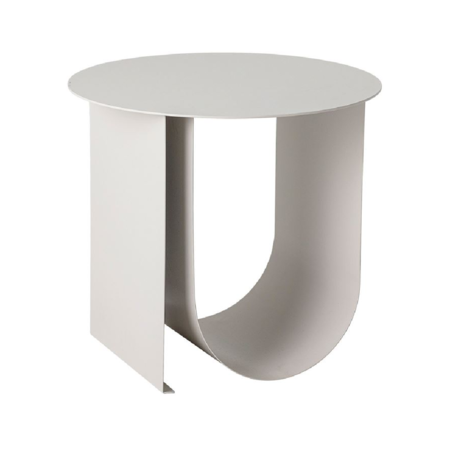 Bloomingville Arched Matte Metal Table - matte grey coated metal
