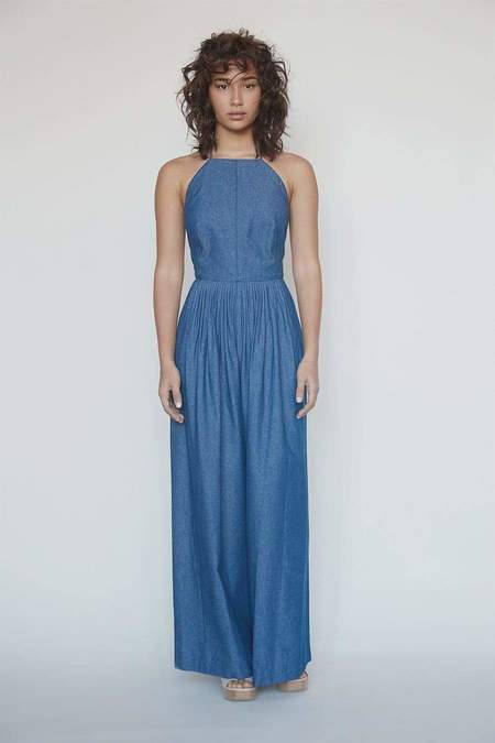 Christine Alcalay Marie Jumpsuit in Cotton Twill