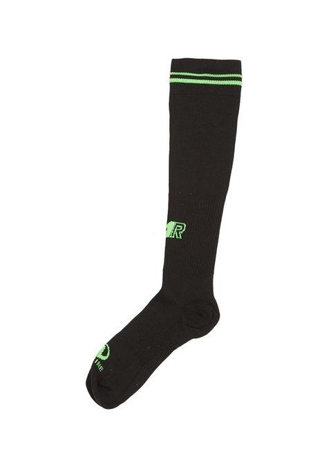 Martine Rose Whitworth Football Sock - Black/Lime Green