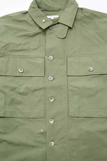 Engineered Garments Cotton Ripstop Shirt Jacket - Olive