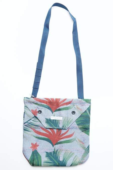 Engineered Garments Shoulder Pouch - Lt. Blue Polyester Big Floral Print