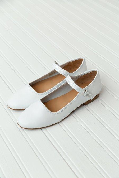 Caron Callahan Ellie Nappa Leather Mary Jane - White