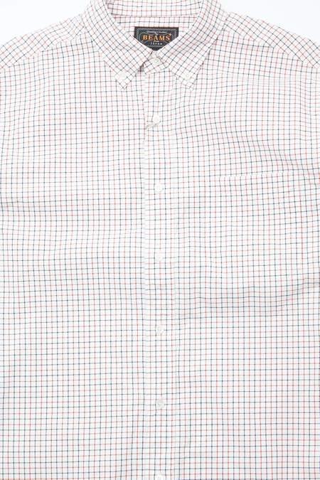 Beams Plus B.D. 60/1 Tattersall  Shirt - White