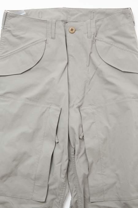 Beams Plus Taslan T-400 Chambray MIL Zip Trousers - GREY