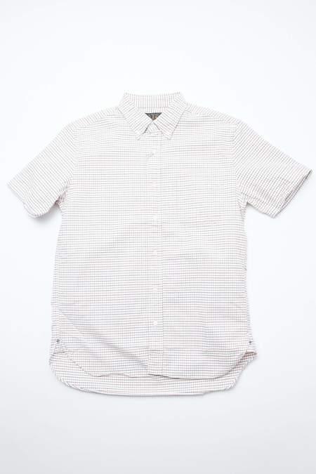 Beams Plus Short Sleeve B.D. Oxford Tattersall shirt - RED/NAVY