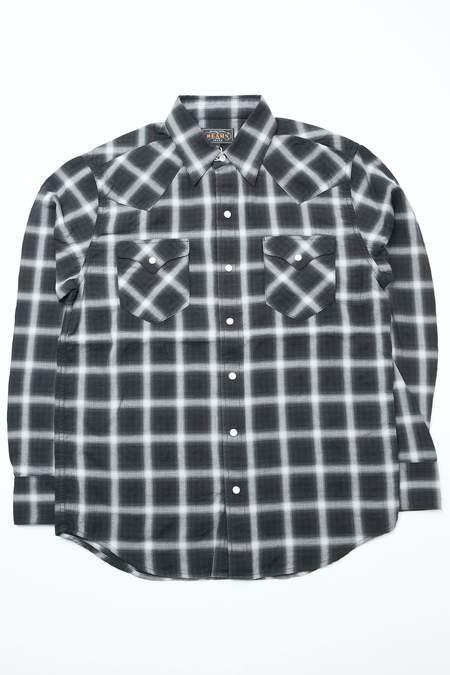 Beams Plus Western Herringbone Check shirt - BLACK