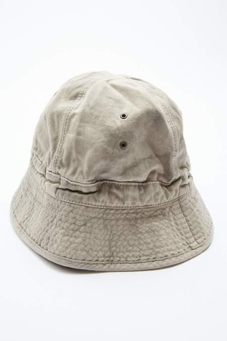 Kapital Katsuragi Ashbury Dyed Cotton Bucket Hat - Natural/Grey