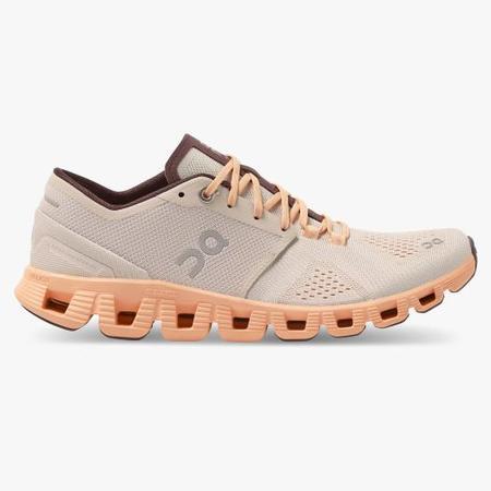 On Cloud X sneaker -  Silver/Almond