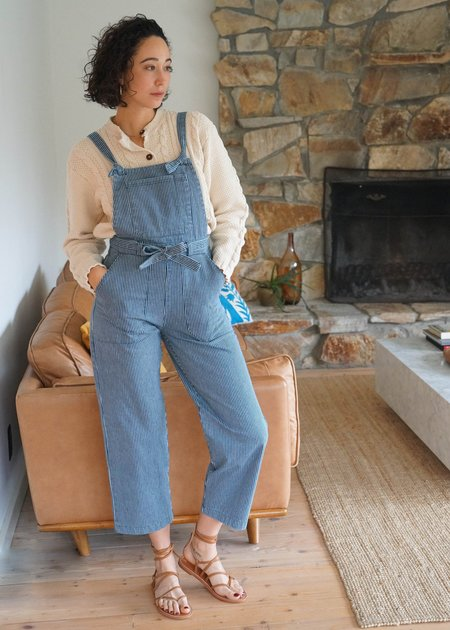 Mabel and Moss Loup Fiona Stripe Overalls - Railroad