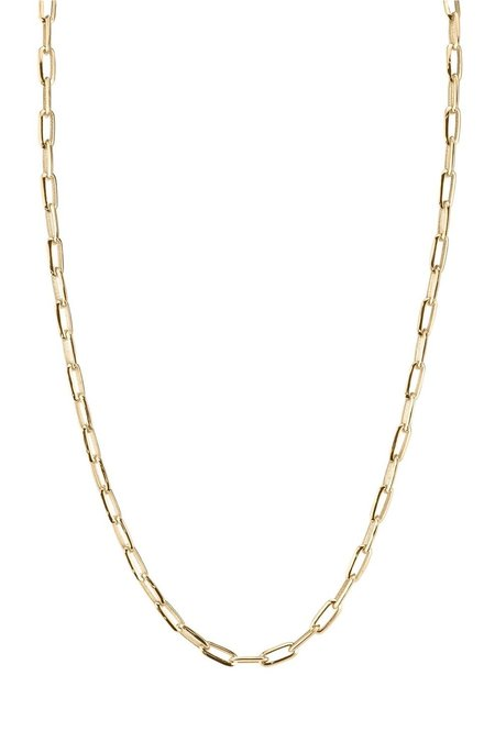 """Lizzie Mandler 18"""" Knife Edge Oval Chain - Yellow Gold"""