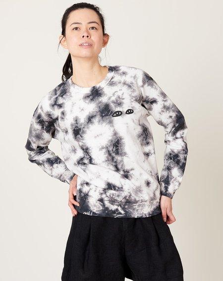 Clare V. Eyes Sweatshirt - Black Cloud Tie Dye