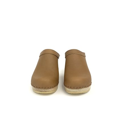 No. 6 Old School Clog on High Heel - Palomino