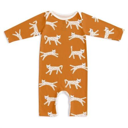Kids Winter Water Factory Long Sleeve Romper - Cats Gold