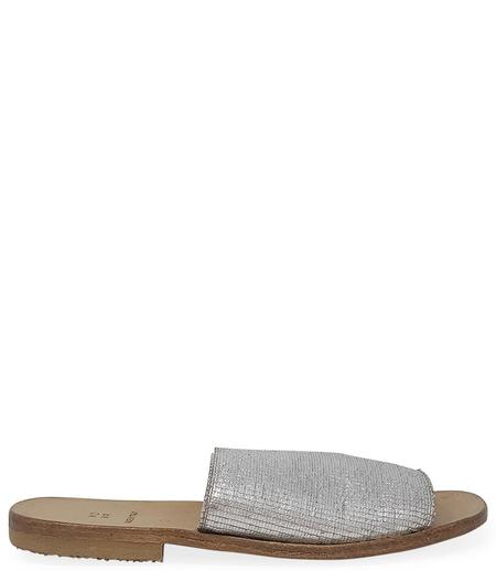 Moma Silver Leather Slip On Loafer - Silver