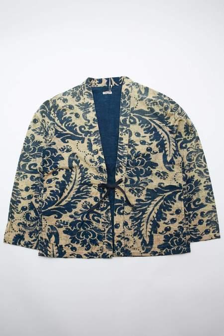 Kapital Idg Flannel Damask Print Kakashi Shirt - Indigo