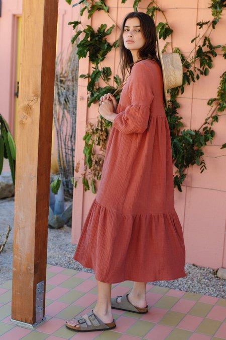 Rachel Pally Cecelia Gauze Dress - Persimmon