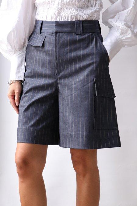 Ganni Stretch Shorts - Blue