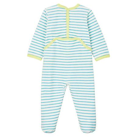 Kids Petit Bateau Mirage Pyjamas With Feet Blue Stripes