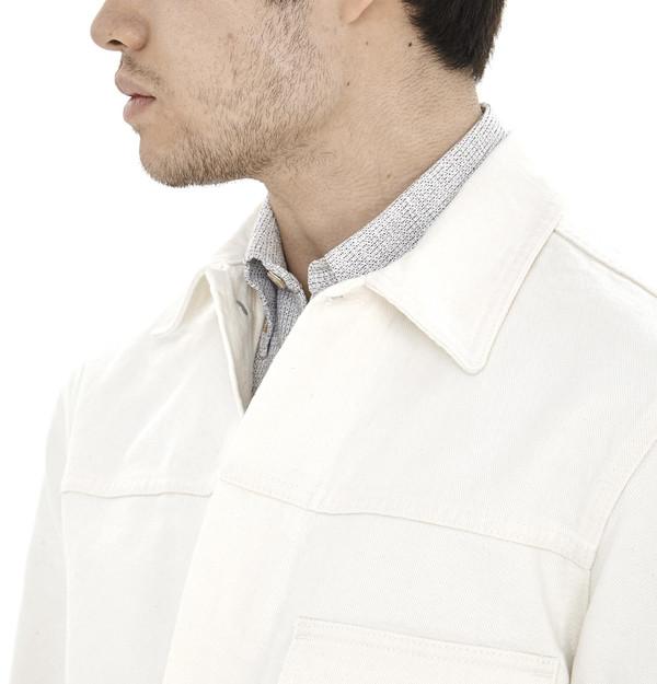 Men's Our Legacy White Zip Jean Jacket