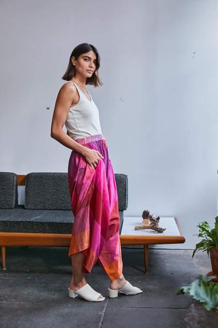 RUJUTA SHETH Harem Pants - Sunset Multi Chex