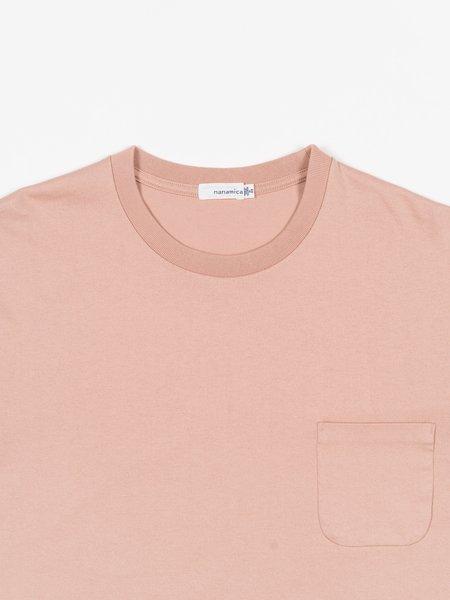 Nanamica L/S Pocket Tee - Light Pink