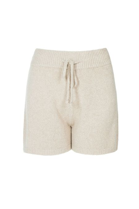 One Grey Day Orly Knit Shorts - Chickpea