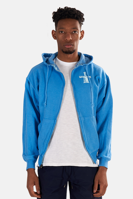 Blue&Cream Been Here Forever Hoodie Sweater - Sky