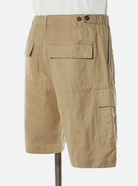 Universal Works MW Linen-Cot Suiting Cargo Short - Sand