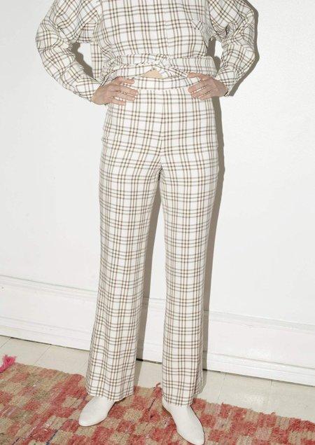 Mr. Larkin Annie Pant - Curtain Plaid