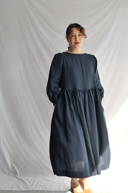 Shelter Gloria Dress - Navy Linen