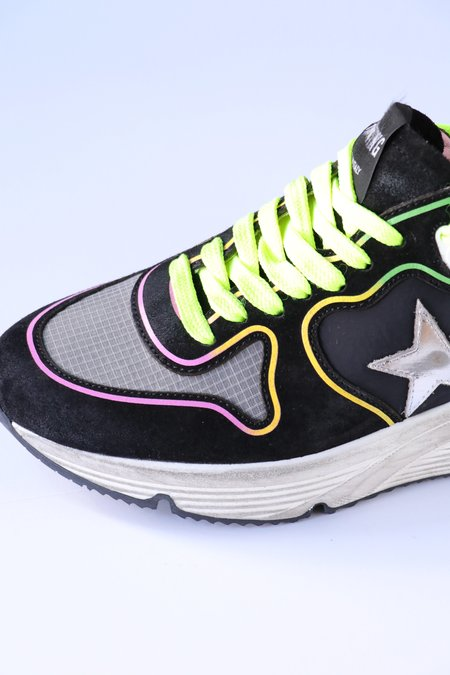Golden Goose Running Sole Laminated Star Sneakers
