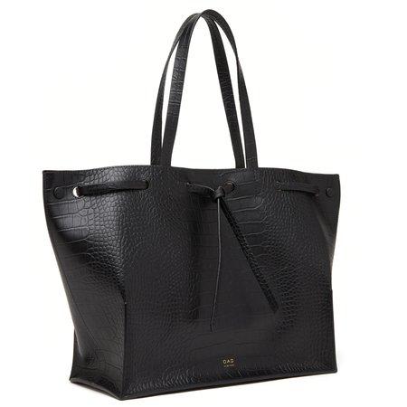 OAD Croco Edie Bag - True Black