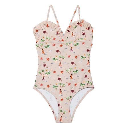 Kids Bonton Bahamas Swimsuit - Pink Tahiti Print